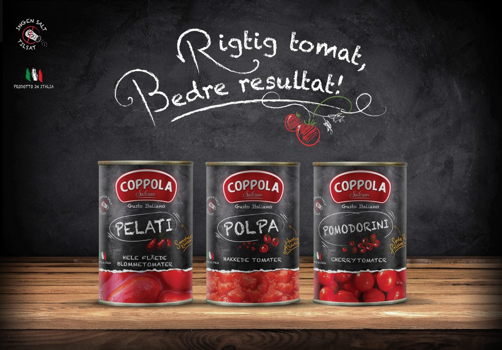 Tre tip top tomatprodukter fra Coppola