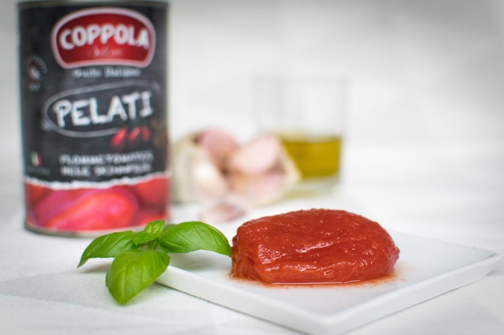 Flåede tomater på dåse fra Coppola